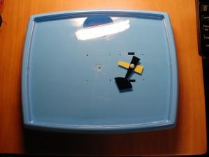 ブルー樽型 QUARTZ